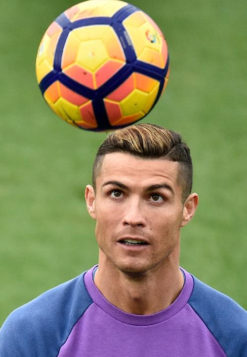 Real Madrid's Cristiano Ronaldo, seen during a training session at Valdebebas training ground in Madrid, on December 9, 2016, on the eve of their Spanish La Liga match against Deportivo de la Coru