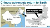 Map of China locating Siziwang in Inner Mongolia where the return capsule of Shenzhou-9 spacecraft carrying three astronauts landed Friday