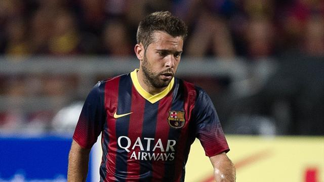 Liga - Alba back in training for Barca before Almeria game