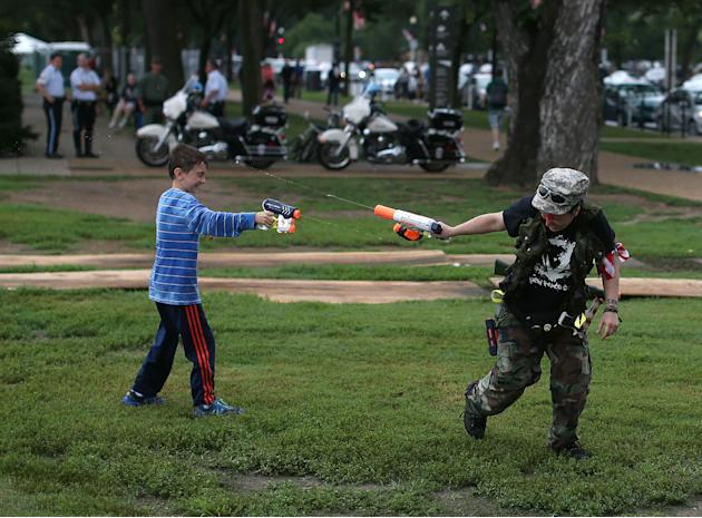 "Pro-Gun Rights Activists Stage ""Armed Toy Gun March"""