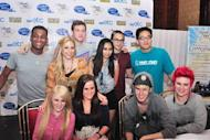 """American Idol"" season 11 top 10 finalists during the press conference for their Manila tour concert held at the Manila Hotel, Manila City on Tuesday, September 19. (NPPA Images)"