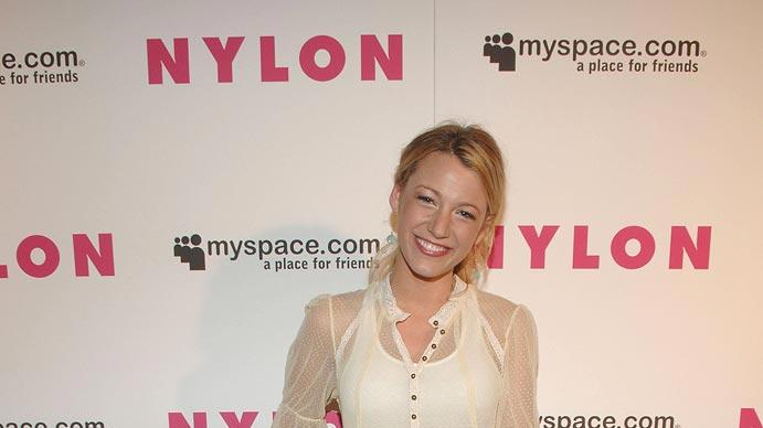 Blake Lively at the NYLON Magazine and MySpace International Music Issue Concert Event in New York City - 07/13/2007
