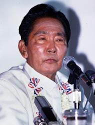 This file photo, taken on January 10, 1986, shows then-Philippines President Ferdinand Marcos at a news conference in Manila. The Philippines is to wind down a near-30-year hunt for the embezzled wealth of Marcos, with more than half the supposed $10 billion fortune still missing