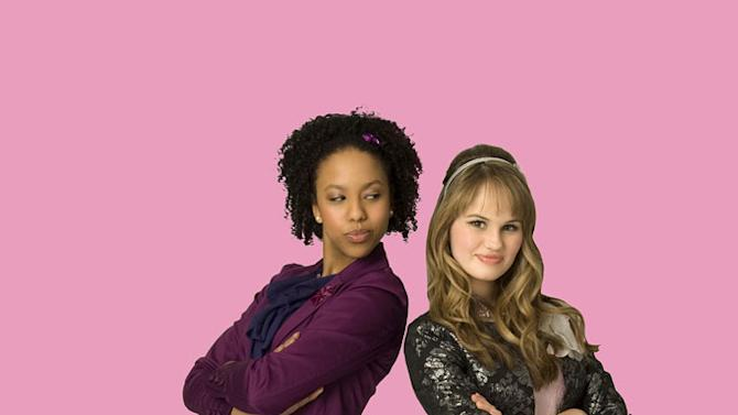 "Karissa Tynes stars as Krista and Debby Ryan stars as Abbey Jensen on ""16 Wishes."""