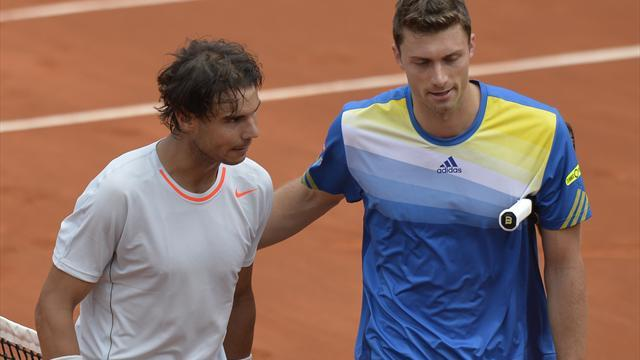 French Open - Brands match had me in a spin, says Nadal