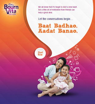 Cadbury Bournvita Prepares To Win On Social Media With 'Tayari Jeet Ki' image Cadbury bournvita aadatein FB app