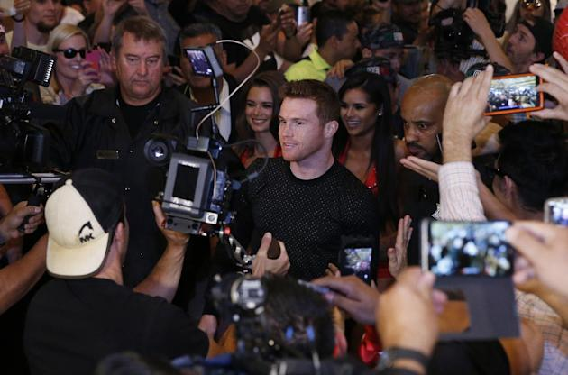 Saul 'Canelo' Alvarez during the Grand Arrivals