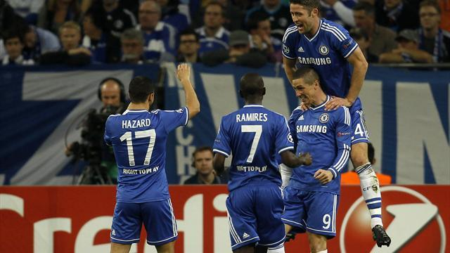 Champions League - Torres grabs brace as Chelsea beat Schalke