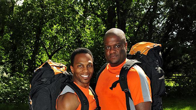 """Best friends Ron Kellum (left) and Tony Stovall compete in """"The Amazing Race 17."""""""