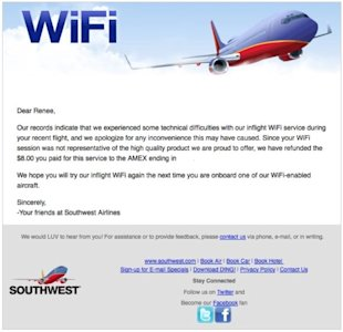 Southwest Airlines: A Service Recovery Surprise image cts post 2014 04 southwest airlines refund 600x580