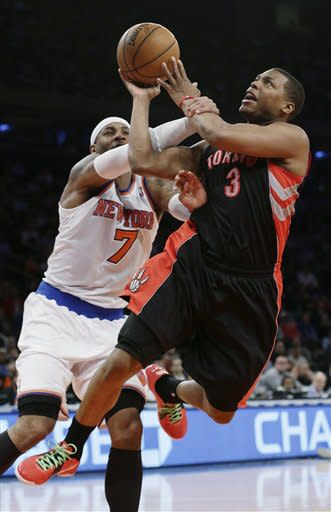 Raptors Knicks Basketball