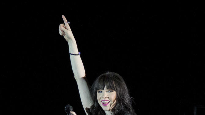 Canadian singer Carly Rae Jepsen performs at the o2 Arena in east London, Monday, March 4, 2013. (Photo by Joel Ryan/Invision/AP)