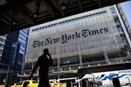 The New York Times Co. said Thursday that first-quarter profit jumped sevenfold, boosted largely by the sale of its regional newspapers and shares in a New England sports group
