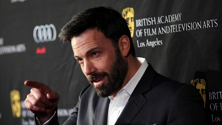 Actor Ben Affleck arrives at the BAFTA Awards Season Tea Party at The Four Seasons Hotel on Saturday, Jan. 12, 2013, in Los Angeles. (Photo by Matt Sayles/Invision/AP)