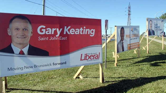 Gary Keating election sign (CBC)