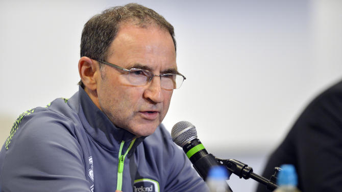Republic of Ireland manager Martin O'Neill during the press conference