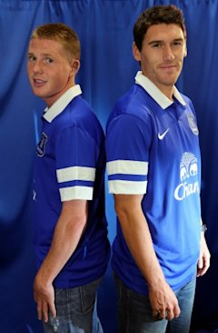 Soccer - James McCarthy amp Gareth Barry Unveiling - Finch Farm
