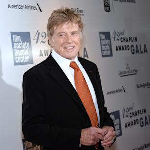 Honoree Robert Redford arrives at the 42nd annual Chaplin Award Gala at Alice Tully Hall on Monday, April 27, 2015, in New York. (Photo by Evan Agostini/Invision/AP)
