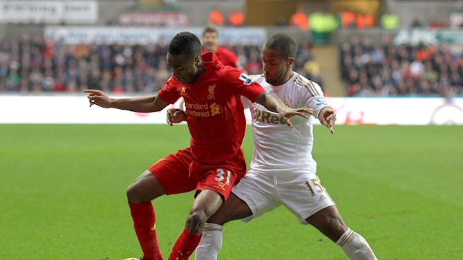 Raheem Sterling, left, rattled the crossbar but neither side could break the deadlock