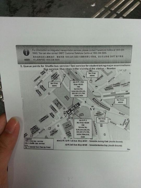 SMRT map briefing of the fire.