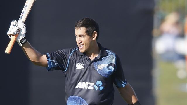 Cricket - Taylor scores century as NZ make 269