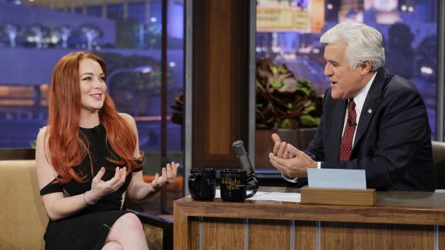 Lindsay Lohan visits 'The Tonight Show with Jay Leno,' Nov. 20, 2012 -- NBC