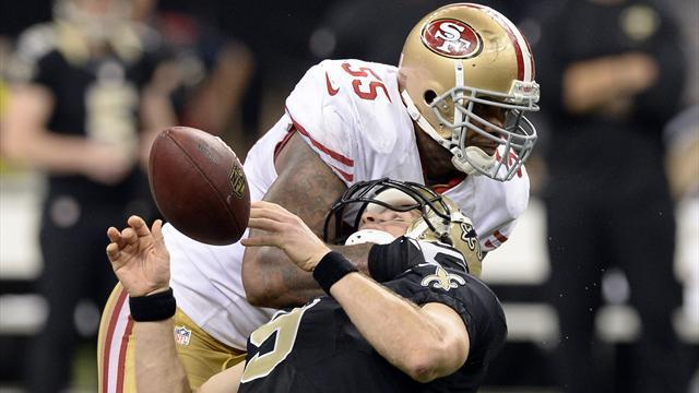 American Football - 49ers' Brooks fined by league for hit on Brees