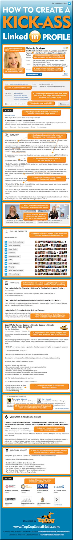 How to Create the Perfect LinkedIn Profile [Infographic] image TopDogLinkedIn Infographic HI5