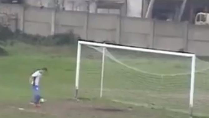 VIDEO: This open goal miss will put a smile on your face
