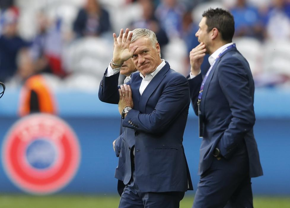 France head coach Didier Deschamps before the game
