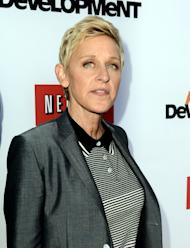 "LOS ANGELES, CA - APRIL 29: Comedienne Ellen Degeneres arrives at the premiere of Netflix's ""Arrested Development"" Season 4 at the Chinese Theatre on April 29, 2013 in Los Angeles, California. (Photo by Kevin Winter/Getty Images)"