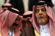 Saudi Foreign Minister Saud bin Faisal bin Abdulaziz Al Saud attends a meeting of Arab foreign ministers in Sharm el Sheik, South Sinai, Egypt, Thursday, March 26, 2015.a meeting of Arab League foreign ministers in Sharm el-Sheikh, South Sinai, Egypt, Thursday, March 26, 2015. (AP Photo/Amr Abdallah Dalsh, Pool)