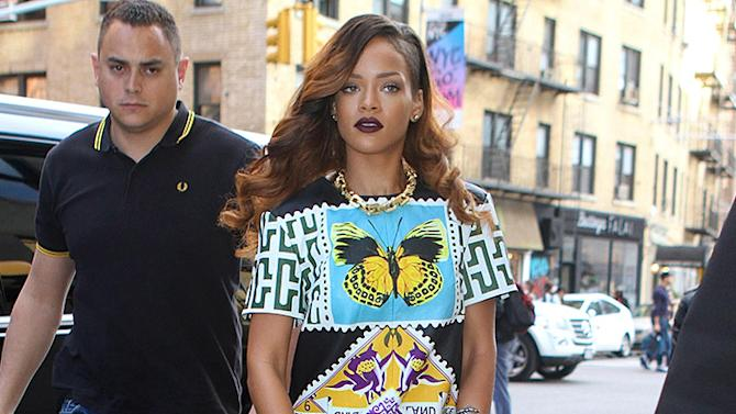 Rihanna wears stunning butterfly dress while out in NYC