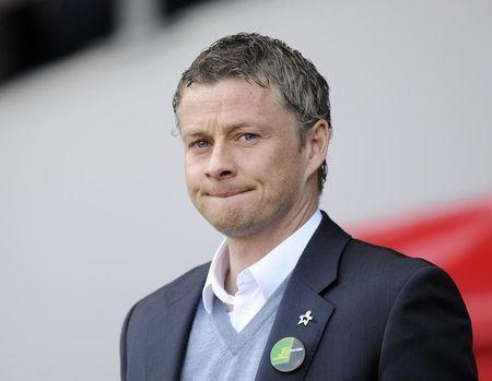 Cardiff City's manager Ole Gunnar Solskjaer looks on during their English Premier League soccer match in Cardiff