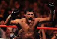 Carl Froch celebrates after beating Lucian Bute during their IBF World Super Middleweight title match in May. He declared he is ready for rematches against Bute, Mikkel Kessler and Andre Ward after an impressive first defence of his IBF super-middleweight title