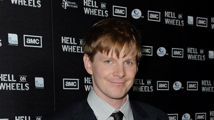 "Ben Esler arrives at the premiere of AMC's ""Hell on Wheels"" at LA Live on October 27, 2011 in Los Angeles, California."