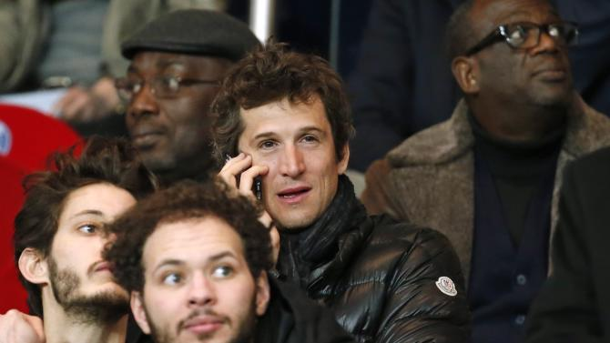 Director Guillaume Canet attends the French Ligue 1 soccer match between Paris st Germain and St Etienne at the Parc des Princes Stadium in Paris