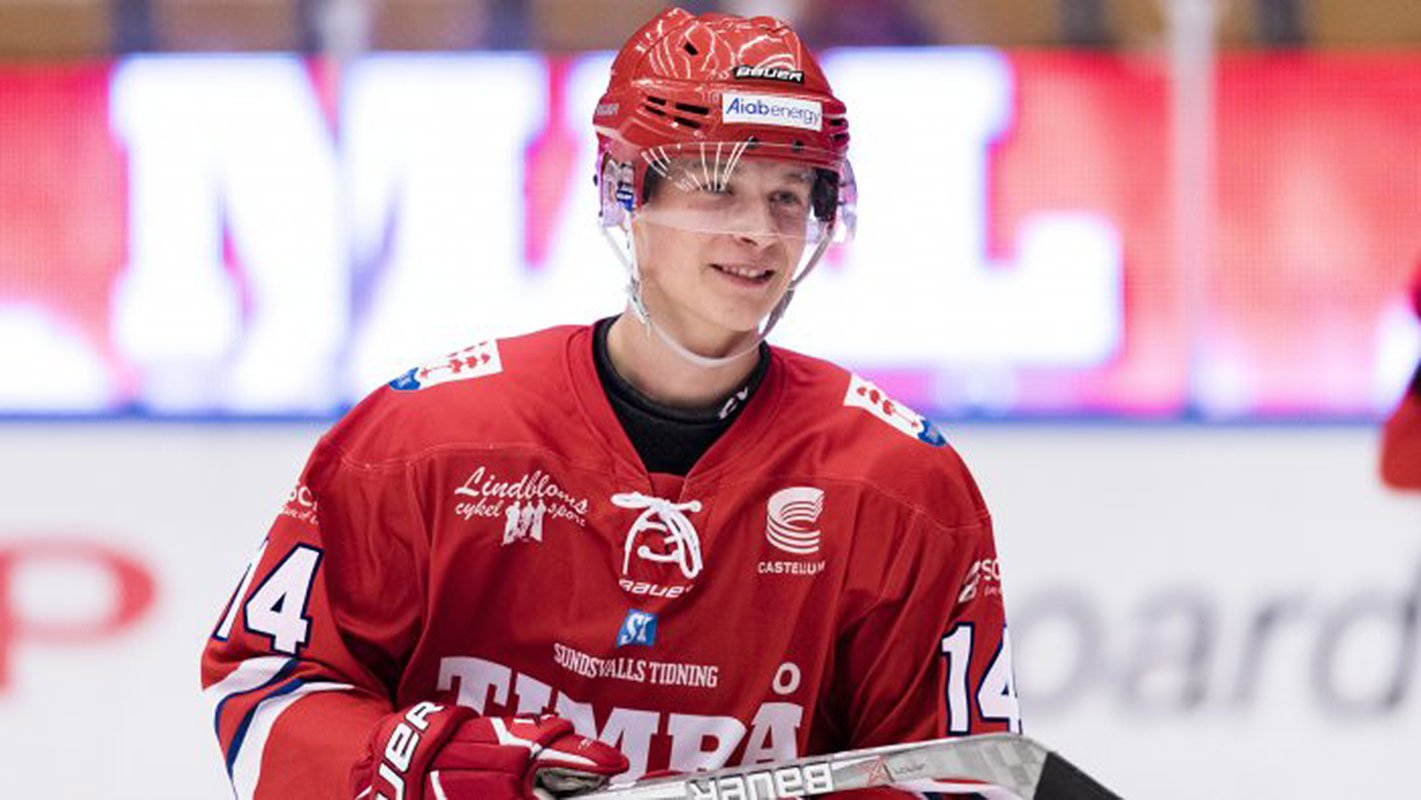 Swedish forward Elias Pettersson (Timra IK Photo)
