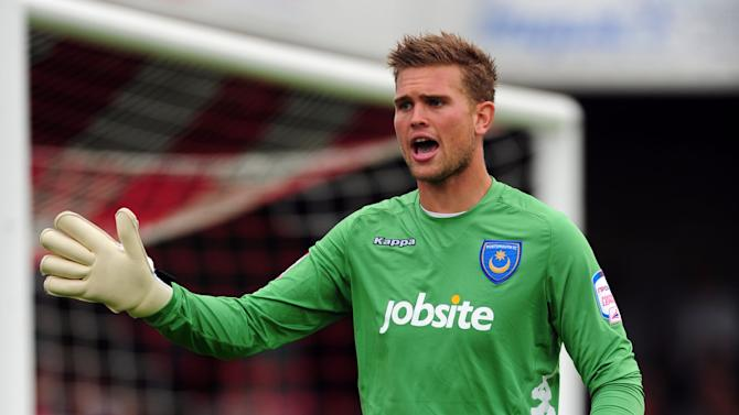 Mikkel Andersen has made six starts since signing a loan deal with Portsmouth last month
