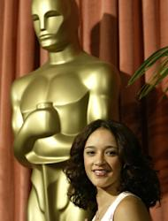 """Actress Keisha Castle-Hughes is pictured on February 9, 2004 at the Oscar Nominees Luncheon in Beverly Hills. She was 13 in 2003 when nominated for the best actress Oscar for her role in """"Whale Rider"""""""