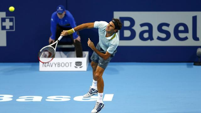 ATP Basel - Federer gets back on track with win in Basel