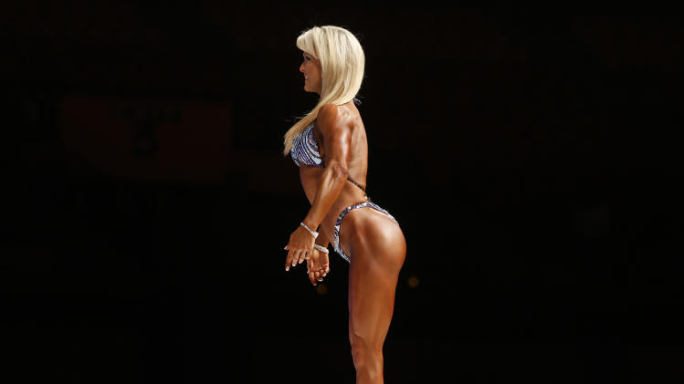 Wilkins of U.S. takes part in the 2012 Sheru classic bodybuilding competition in New Delhi