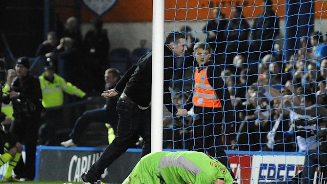 Chris Kirkland was struck by a fan during Friday night's match