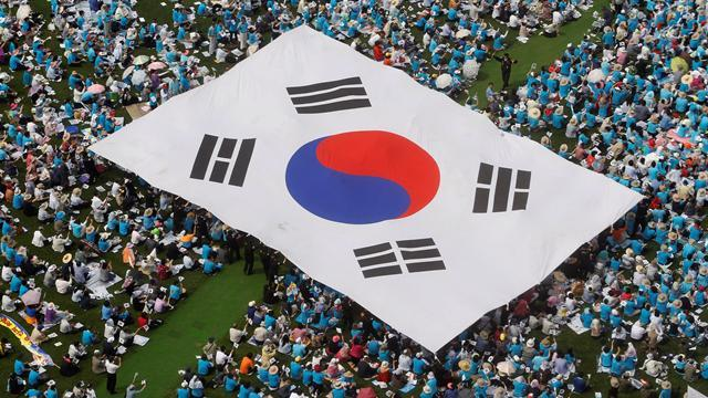 Weightlifting - South Korean lifters see flag raised in Pyongyang