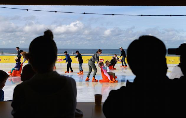 Bondi Beach Ice Rink Opens For Winter Festival 2012