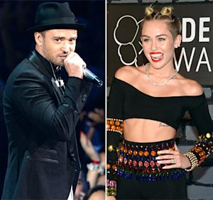 """Justin Timberlake Defends Miley Cyrus' VMAs Performance: """"It's Not Like She Did It at the Grammys"""""""