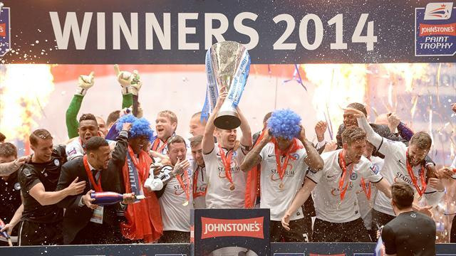 League Two - Ten-man Peterborough down Chesterfield to win Trophy