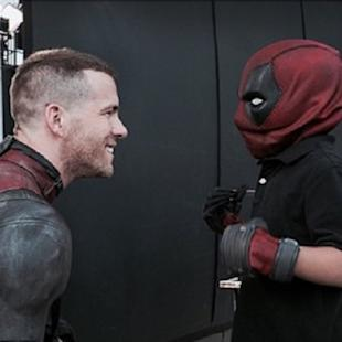 'Deadpool' Star Ryan Reynolds Breaks From Shooting to Visit Young Fan Battling Hodgkin's Disease (Photos)