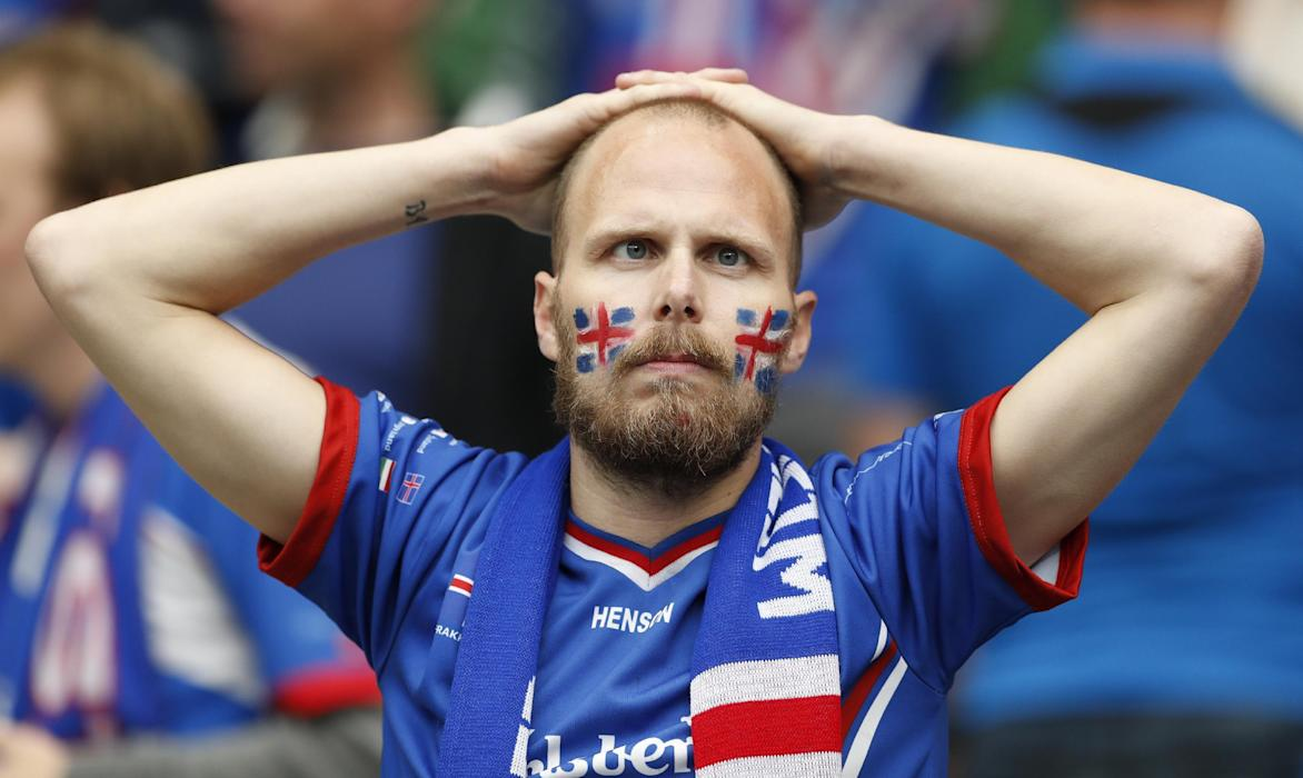 Iceland fan before the game