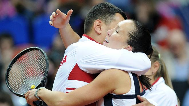 Jelena Jankovic Of Serbia Celebrates AFP/Getty Images